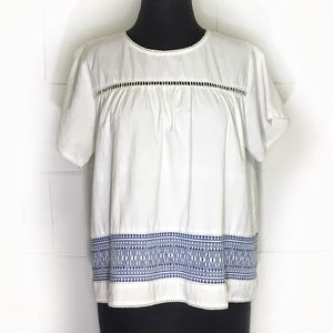 Anthropologie dRA Los Angeles Boho Peasant Top